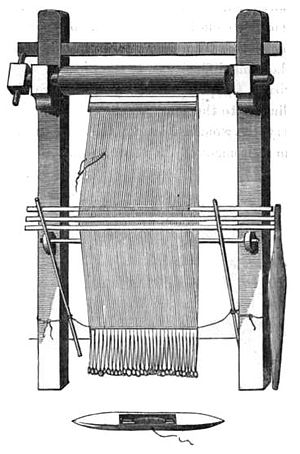 Warp-weighted loom - Icelandic warp-weighted loom