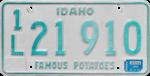 Idaho license plate, 1979.png