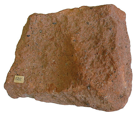 Ignimbrite is a deposit of a pyroclastic flow. Ignimbrite.jpg