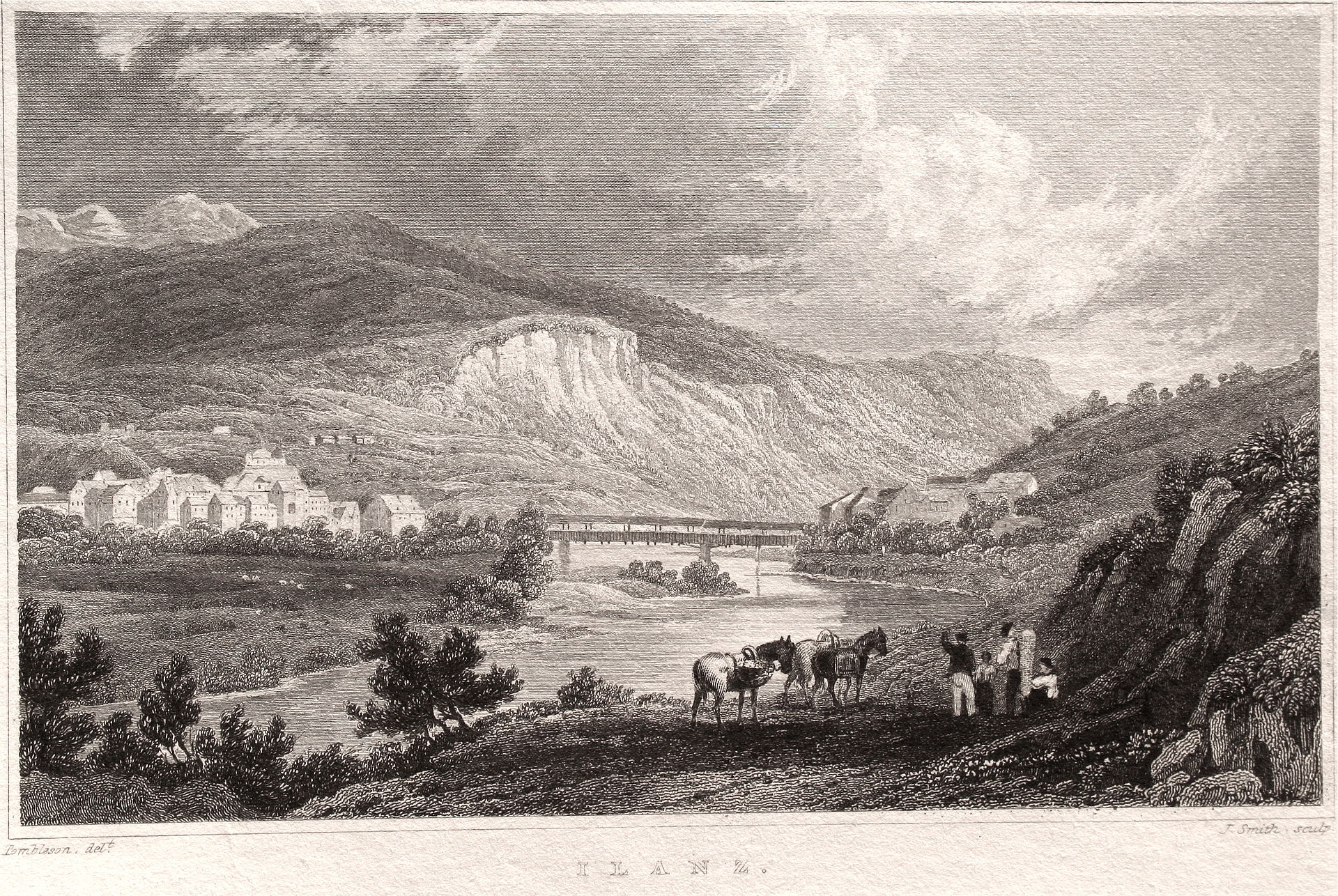 Ilanz en 1830