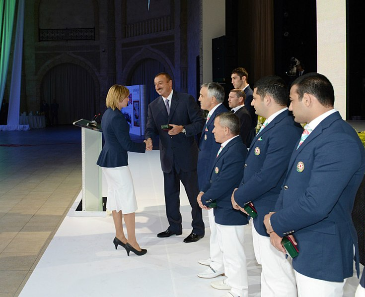 File:Ilham Aliyev met with the sportsmen who took part in the 30th Summer Olympic Games in London 3.jpg