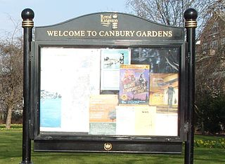 Canbury Gardens park in the United Kingdom