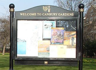 Canbury Gardens - Entrance sign