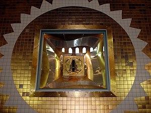 A imagem, tal como se encontra no interior da Catedral.