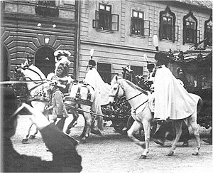 Imperial Coach - The Imperialwagen at Charles I's Coronation in Budapest (1916)