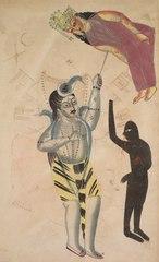 Shiva Bearing Aloft the Body of His Sati