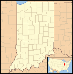 Pershing, Indiana is located in Indiana