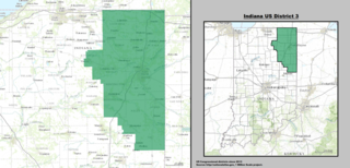 Indianas 3rd congressional district U.S. House district centered on Fort Wayne, IN