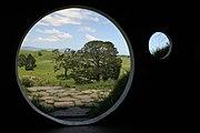 Décor d'un trou de hobbit utilisé pour les films de Peter Jackson
