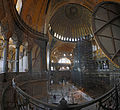 Inside the Hagia Sophiap Panoramic vue from the upper gallery.jpg