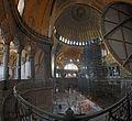 Inside the Hagia Sophiap Panoramic vue from the upper gallery.jpg