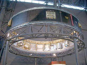 Saturn V Instrument Unit - View of IU-514 from the floor of UHC