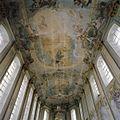 Interieur, schip, overzicht plafond- gewelf met fresco's - Houthem - 20341645 - RCE.jpg