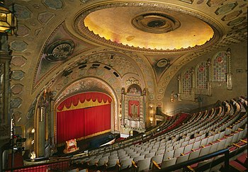 Inside the Alabama Theatre in 1996 before its extensive renovation.