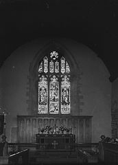 Interior of St. Mary's church at Builth Wells