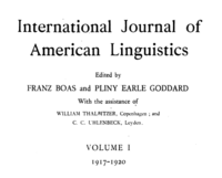 International Journal of American Linguistics, volume I, 1917-1920.png