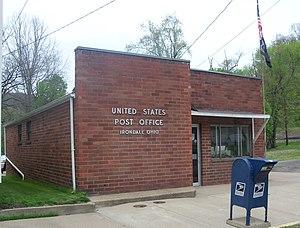 Irondale, Ohio - Irondale Post Office sits near Yellow Creek
