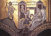 Isaak gives blessing to Jacob (Monreale).jpg