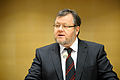 Islands utrikesminister, ossur Skarphedinsson, haller sin redogorelser under Nordiska radets session i Stockholm 2009.jpg
