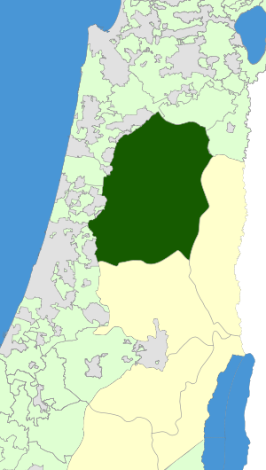 Israel Map - Shomron Regional Council Zoomin.svg