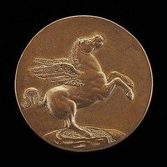 Pegasus on the Fountain Hippocrene [reverse]