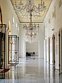 Italian marble flooring and chandeliers from Czechoslovakia at Sultan Abu Bakar State Mosque.jpg