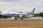 JA732A All Nippon Airways Boeing 777-381(ER) coming in from Tokyo-Haneda (HND) @ Frankfurt - Rhein-Main International (FRA) - 15.07.2017 (35807756161).jpg