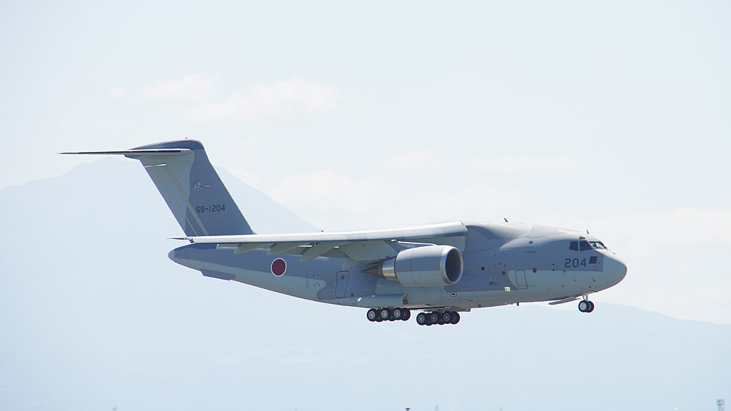 JASDF C-2(68-1204) fly over at Miho Air Base May 28, 2017 05.jpg