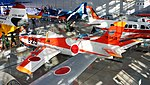 JASDF T-1A(15-5825) left rear top view at Hamamatsu Air Base Publication Center November 24, 2014 01.jpg