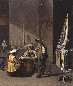 Jacob Duck - Jacob Duck, Guard House with soldiers and a pack of cards, Szépművészeti Múzeum