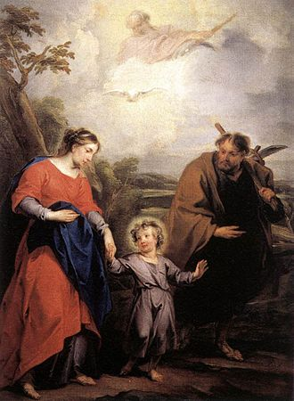 """Jacob de Wit - """"Holy Family and Trinity"""" (1726) by Jacob de Wit"""