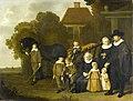 Jacob van Loo - De familie Meebeeck Cruywagen bij de poort van hun buitenhuis aan de Uitweg bij Amsterdam - 1471 - Amsterdam Museum.jpg