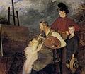 Jacques-Émile Blanche, 1895 - Le peintre Thaulow et ses enfants.jpg