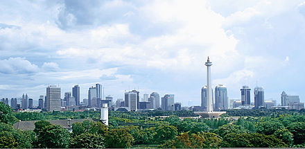 Jakarta, the capital city and the country's commercial centre Jakarta Panorama.jpg