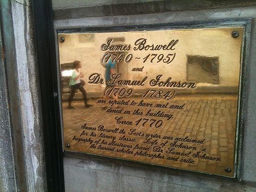James boswell and samuel johnson plaque, edinburgh