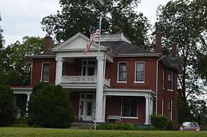 National Register of Historic Places listings in Hickman County, Tennessee - Image: James Buchanan Walker House Centerville, Tennessee 8 31 2014