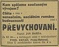Jan Burda Převychovaní inzerát 1931.jpg