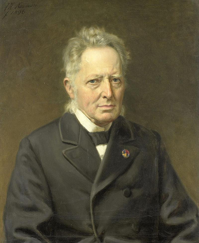 Jan Heemskerk Azn (1818-97). Minister van Binnenlandse Zaken. Verrichtte op 13 juli 1885 de opening van het Rijksmuseum Rijksmuseum SK-A-3139.jpeg