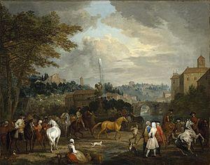 Jan Peeter Verdussen - Horse market