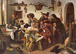 "Jan Steen : Beware of Luxury (""In Weelde Siet Toe"")"