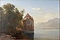 Janus la Cour, Slottet Chillon ved Genfersøen, 1876, 0074NMK, Nivaagaards malerisamling.jpg