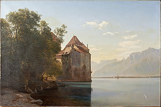 Castle by Lake Geneva