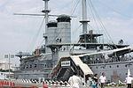 Japanese Battleship Mikasa at Yokosuka - 2013 01.JPG