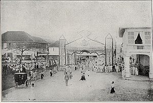 Jaro, Iloilo City - Preparations for the arrival of Governor General William H. Taft, 1900s