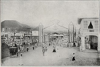 Jaro, Iloilo City - Preparations for the arrival of Governor General William H. Taft, 1900s