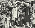 Jawaharlal Nehru with villagers in Rajasthan.jpg