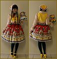 Jenna Bao wearing folk lolita featuring handmade items and LIEF's matryoshka skirt.jpg