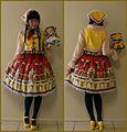 Jenna Bao wearing folk lolita featuring handmade items and LIEF's matryoshka skirt.jpg