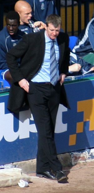 Jim Gannon - Gannon as Stockport County manager (April 2008).