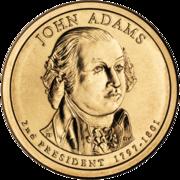 John Adams Presidential $1 Coin obverse